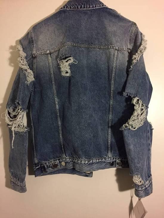Balmain Blue Distressed Denim Jacket Size US XL / EU 56 / 4 - 3