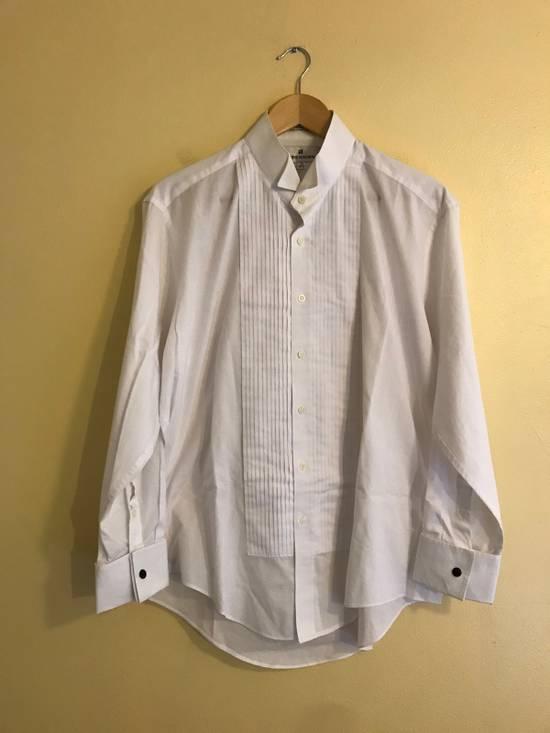 Balmain White Tux Button Up Shirt Size US L / EU 52-54 / 3