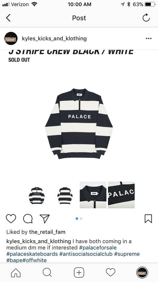 b698e0b406ee Palace Black and white palace j stripe crew Size m - Long Sleeve T ...