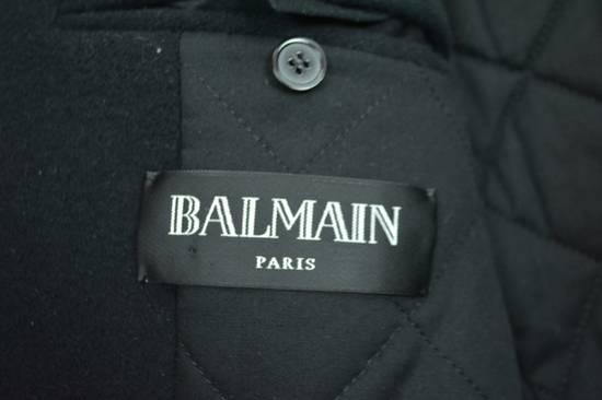 Balmain Black Peacoat Oversize Hood Wool Duffle 52 50 42 Black $4,889 New Size US L / EU 52-54 / 3 - 8