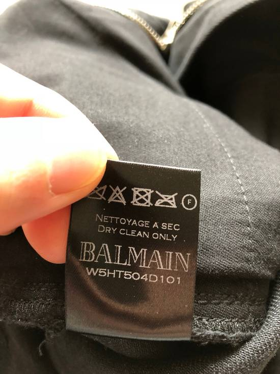 Balmain Biker Jeans Waxed Leather Knee Size US 30 / EU 46 - 11