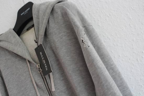 Balmain FW10 Decarnin Era Grey Mothhole Destroyed Hoodie Size US XL / EU 56 / 4 - 3