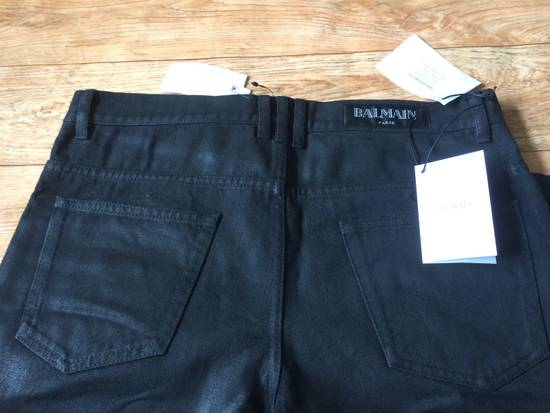 Balmain Balmain Biker Jeans with Leather Panelling Size US 30 / EU 46 - 2