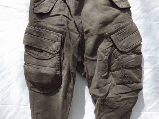 Julius Green Linen Blend Gas Mask Cargo Pants Size US 30 / EU 46 - 1