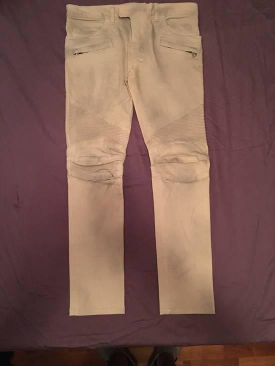 Balmain Biker Cotton Pants Size US 29
