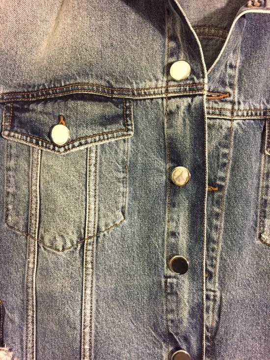 Balmain Blue Denim Destroy Jacket Size US XL / EU 56 / 4 - 2