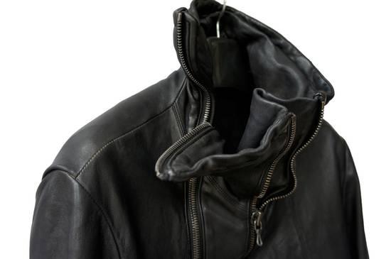 Julius JULIUS _7 ma high neck black lamb biker jacket slim fit Japan Size US S / EU 44-46 / 1 - 11