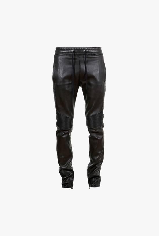 Balmain LAST DROP! Size M Fits S - Slim Fit Leather Ribbed Biker Style Sweatpants - $3100 Retail Size US 30 / EU 46 - 14
