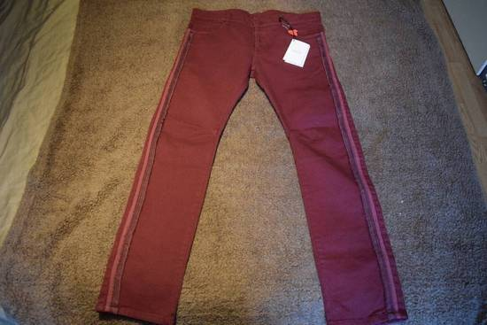 Balmain Balmain Authentic $1090 Jeans Burgundy Size 33 Slim Fit Brand New Size US 33