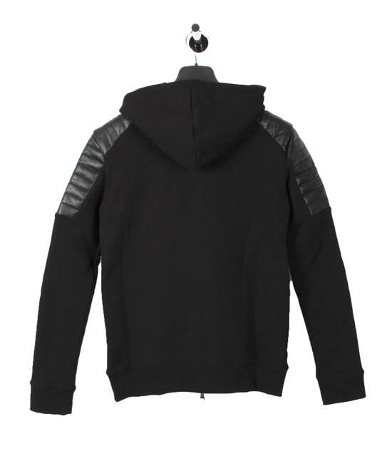 Balmain Original Balmain Leather App Black Men Hooded Sweatshirt Top Jumper in size M Size US M / EU 48-50 / 2 - 3