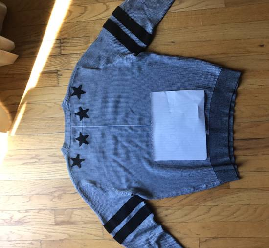 Givenchy Men's Gray Stars And Stripes Crew neck Sweater Size US M / EU 48-50 / 2