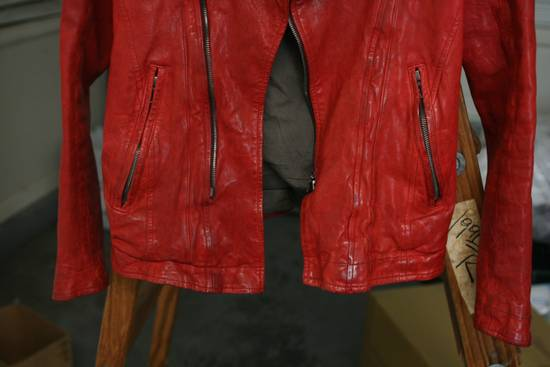 Julius FW09 'protectionism' Red Lambskin Rider Size 2 Size US S / EU 44-46 / 1 - 3