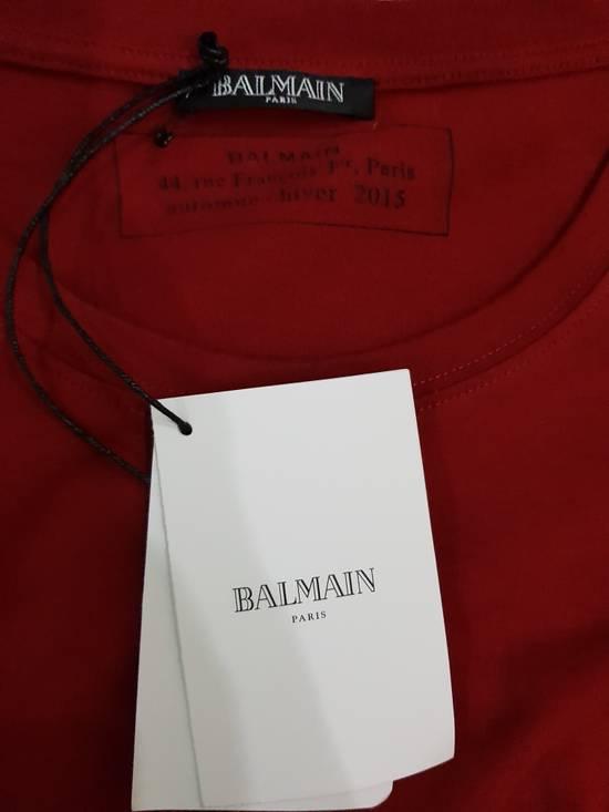 Balmain Red Balmain Logo T-Shirt Size US M / EU 48-50 / 2 - 4