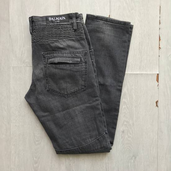 Balmain Distressed Grey Biker Denim Size US 30 / EU 46 - 1