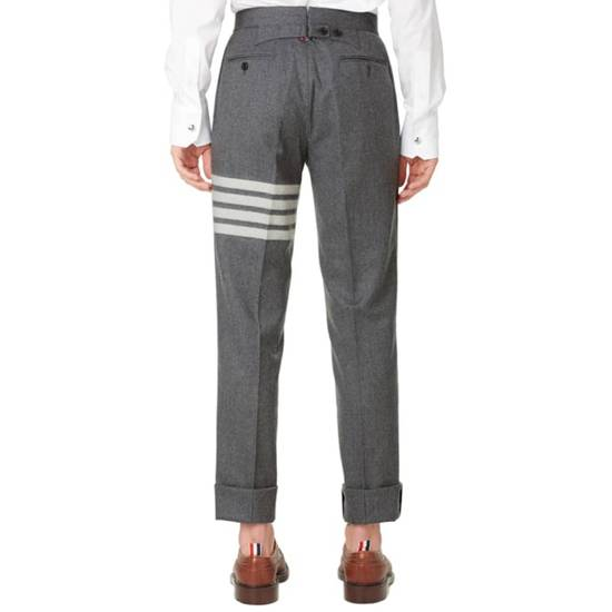 Thom Browne THOM BROWNE STRIPE BACKSTRAP FLANNEL TROUSER Size US 31 - 1