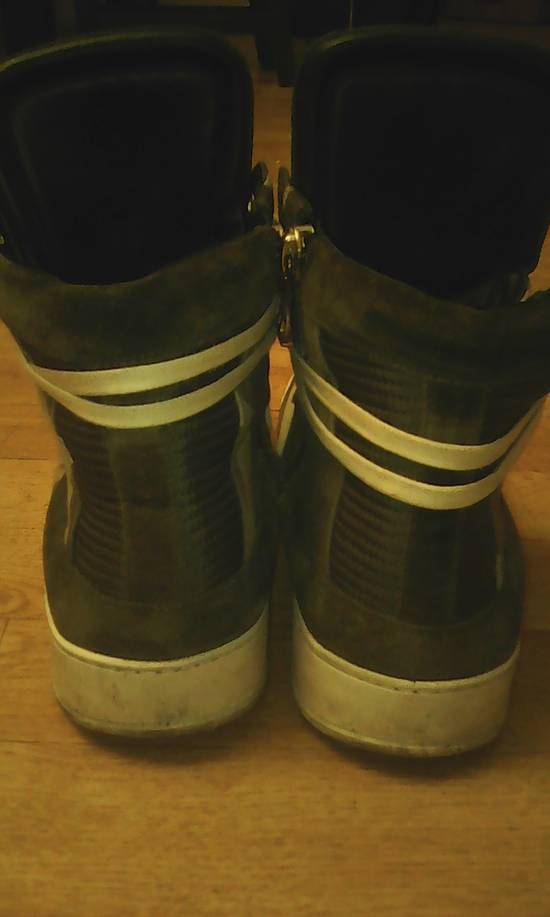 Balmain Green Camo leather Hi Top Balmain Shoes Size US 9 / EU 42 - 2