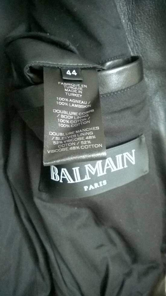 Balmain Sz 44 New Lambskin Biker Leather Jacket Size US XS / EU 42 / 0 - 8