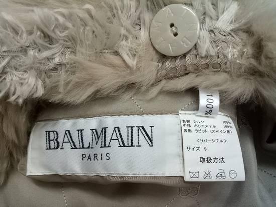 Balmain 🔥FINALDROP♨Reversible Balmain Paris Fur and Silk Jacket RARE Design Size US L / EU 52-54 / 3 - 16