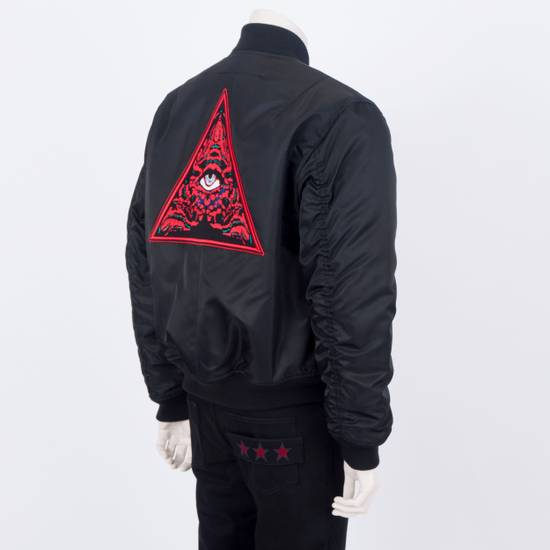 Givenchy 2550$ New Black Padded Nylon Illuminati Patch Bomber Jacket Size US L / EU 52-54 / 3 - 2