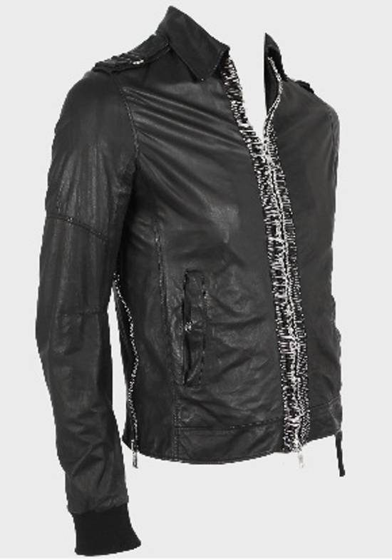 Balmain Safety Pin Leather Biker Jacke Size US M / EU 48-50 / 2 - 5