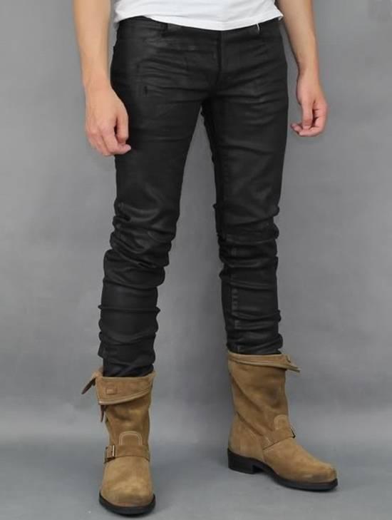 Balmain SS12 Black Waxed Jeans Size US 30 / EU 46
