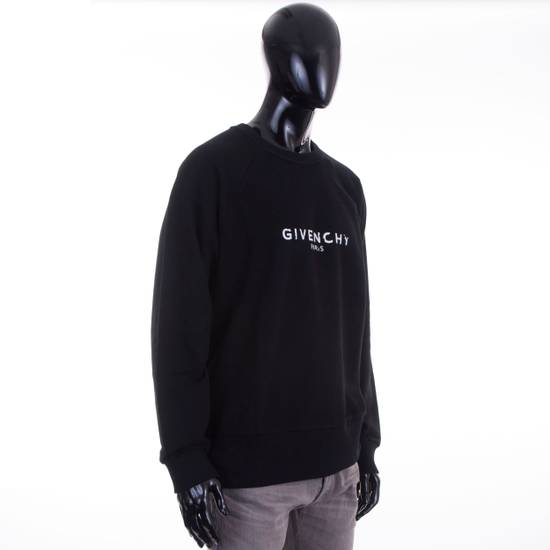 Givenchy Black Cotton Sweater With Blurred Givenchy Paris Logo Size US XL / EU 56 / 4 - 4