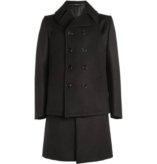 Givenchy FW12 Two Piece Black Wool Peacoat sz 48 double layer coat Riccardo Tisci Size US M / EU 48-50 / 2 - 2
