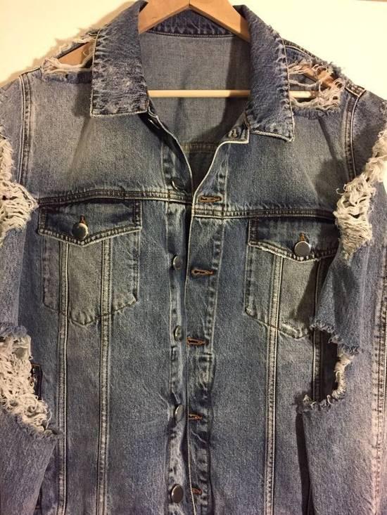 Balmain Blue Distressed Denim Jacket Size US XL / EU 56 / 4 - 1