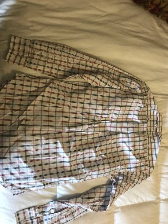 Thom Browne Black Fleece RWB Windowpane Button Up Broadcloth BB0 Size US XS / EU 42 / 0 - 3
