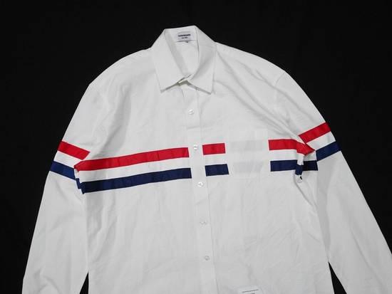 Thom Browne Thom Browne Tristripe Grosgrain Oxford Pocket Shirt Size US L / EU 52-54 / 3 - 1