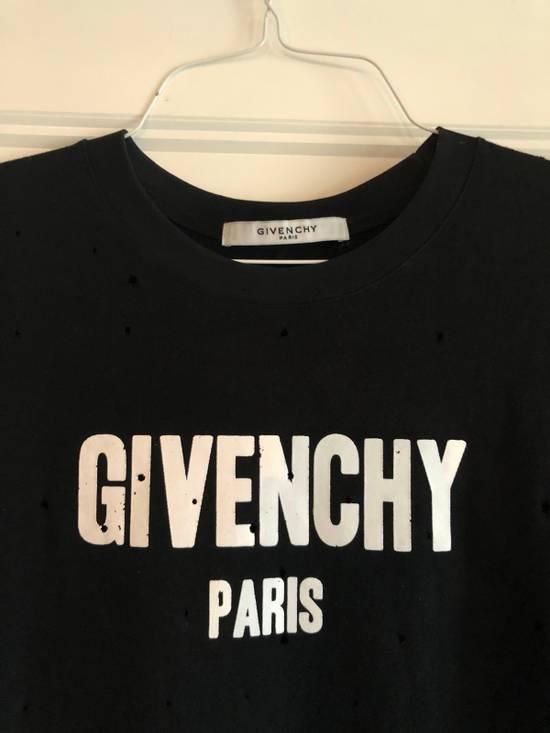 Givenchy Logo Burnout Cotton T-Shirt Size US M / EU 48-50 / 2 - 2