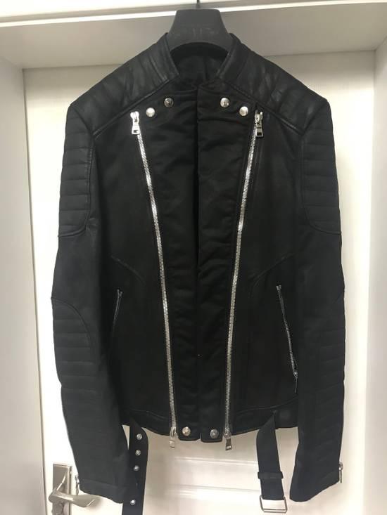 Balmain waxed biker jacket Size US M / EU 48-50 / 2 - 2