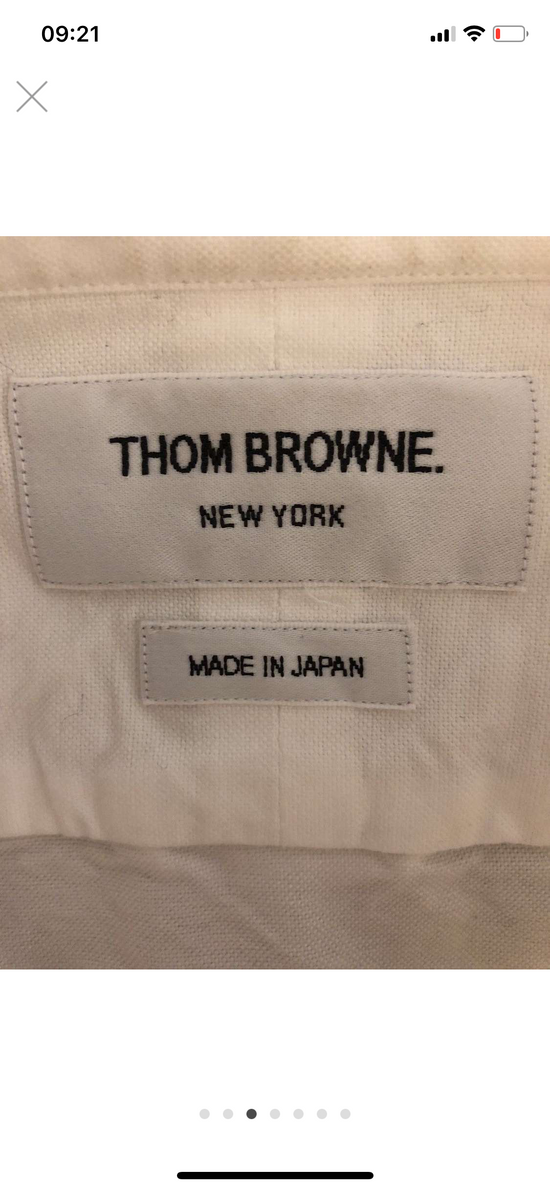 Thom Browne hector embroidered arm stripe shirt Size US M / EU 48-50 / 2 - 9
