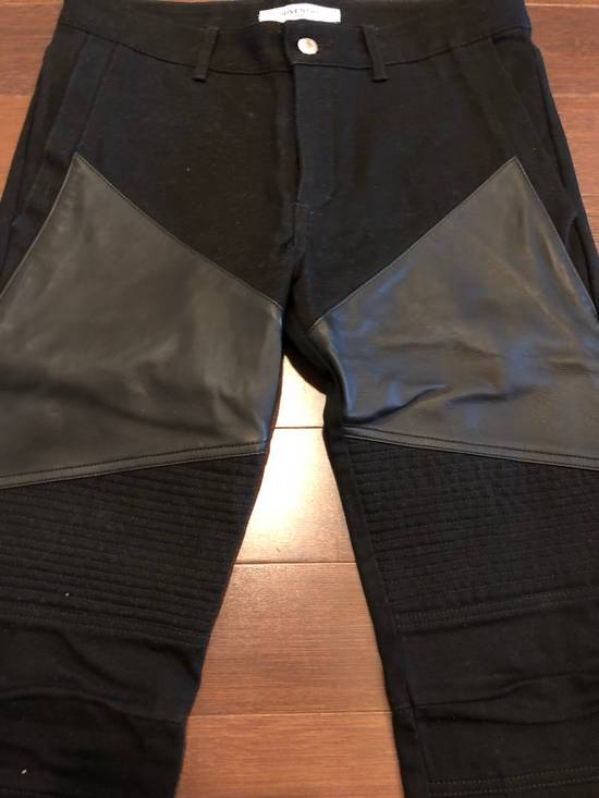 Givenchy Givenchy Leather Panel Black Jeans Size US 30 / EU 46 - 1