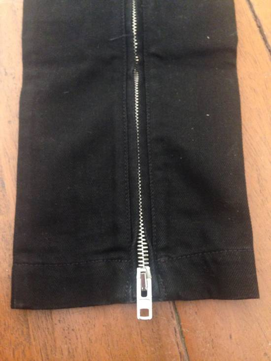 Givenchy Black Leather-patched Biker Jeans Size US 31 - 4
