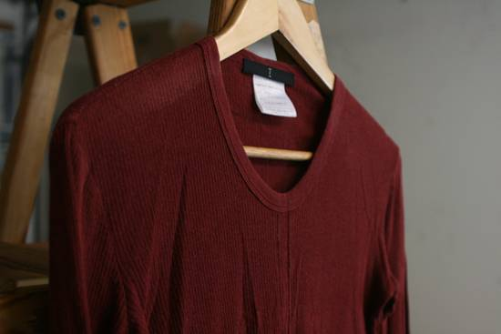 Julius FW08 Blood Red Cotton/Cashmere Rib Longsleeve Size US S / EU 44-46 / 1 - 1