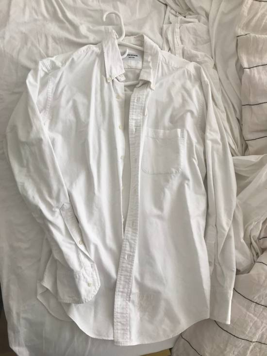 Thom Browne Slim-Fit Button Down Collar Cotton Oxford Shirt (white) Size US XXL / EU 58 / 5 - 5