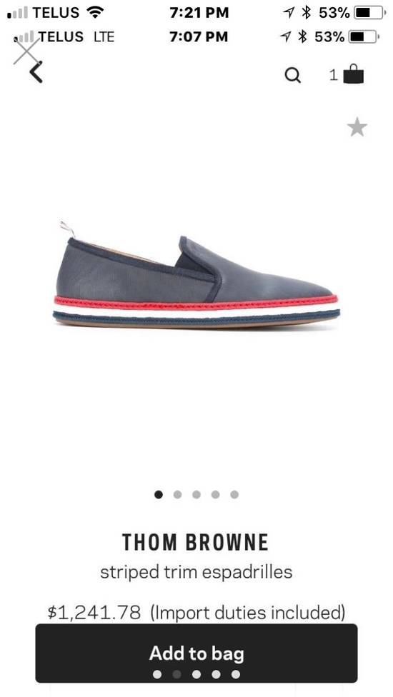 Thom Browne BRAND NEW Striped Trim Espadrilles Size US 10 / EU 43 - 1