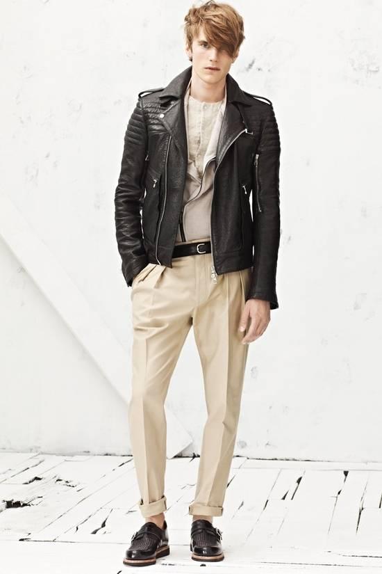 Balmain RARE! Lambskin Leather Biker Jacket Size US L / EU 52-54 / 3 - 9