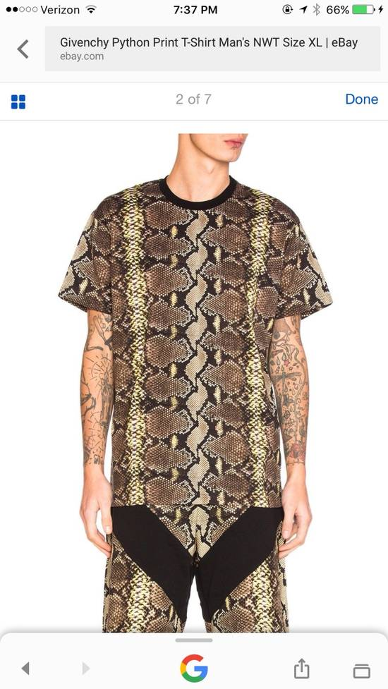 Givenchy Snakeskin Print Cotton T-Shirt Size US XL / EU 56 / 4 - 16
