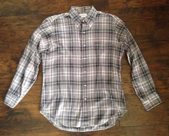 Thom Browne Grey plaid flannel shirt Size US L / EU 52-54 / 3