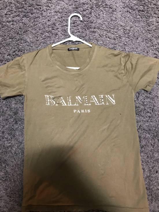 Balmain Olive Green Balmain T-Shirt Size US S / EU 44-46 / 1