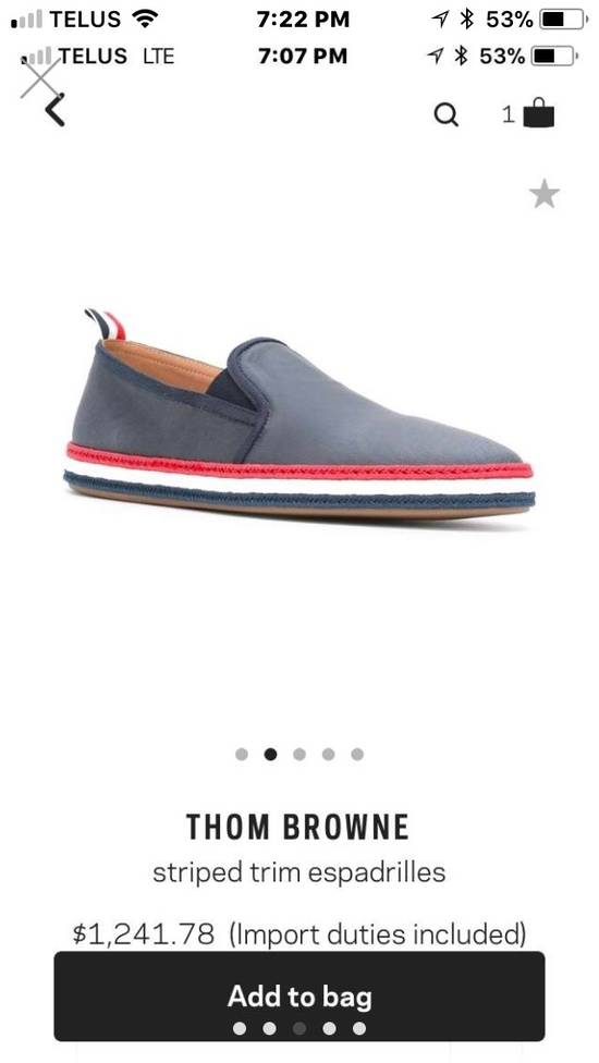 Thom Browne BRAND NEW Striped Trim Espadrilles Size US 10 / EU 43 - 4