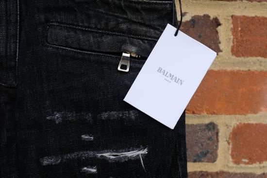 Balmain Black Distressed Biker Jeans Size US 29 - 5