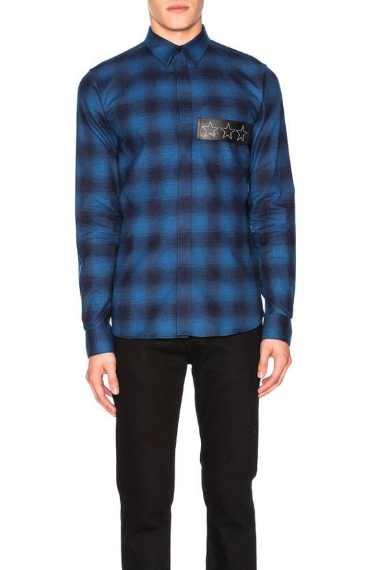 Givenchy Embroidered flannel shirt Size US L / EU 52-54 / 3 - 1