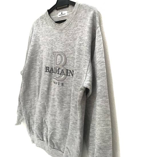 Balmain Vtg PIERRE BALMAIN PARIS Big Logo Made In JAPAN Gray MEDIUM Sweatshirt Jumper Size US M / EU 48-50 / 2 - 3