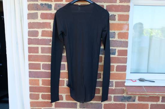 Balmain Black Ribbed Knit Long Sleeve T-shirt Size US M / EU 48-50 / 2 - 8