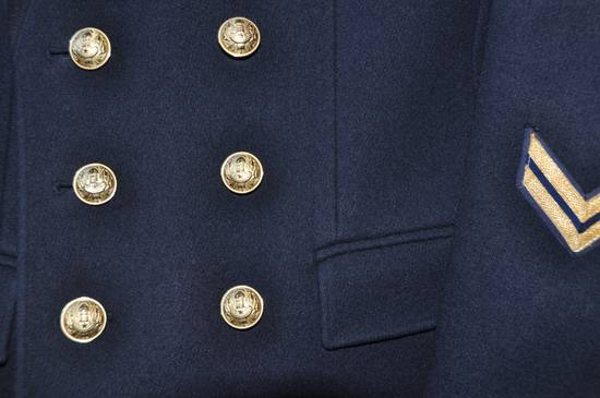 Balmain Balmain Blazer Navy Blu - F/W 2010 (Military Insignia Wool Pea Coat with Golden Crested Button) Size US L / EU 52-54 / 3 - 1