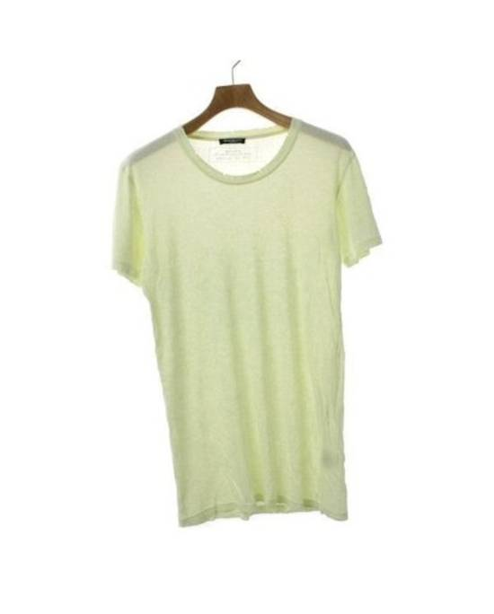 Balmain Pale Yellow Classic Distressed T-Shirt Size M Size US M / EU 48-50 / 2