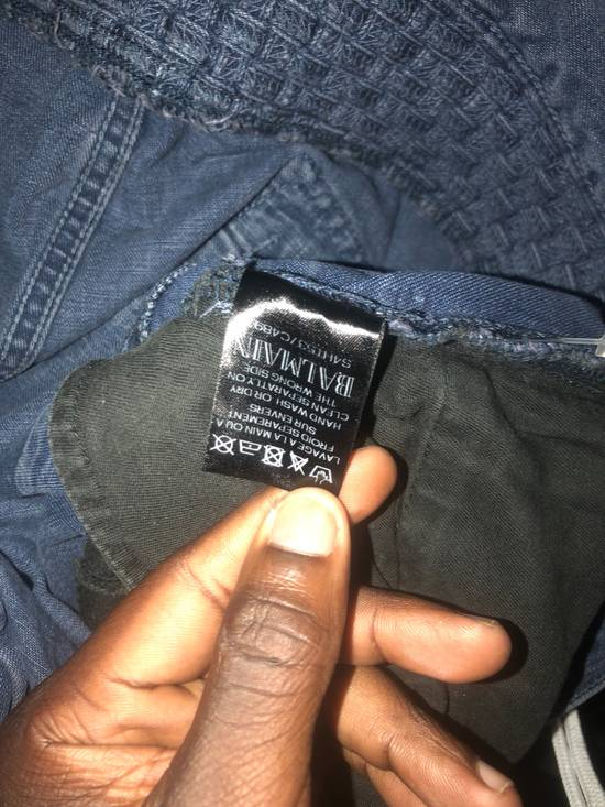 Balmain Crosshatch biker jeans Size US 34 / EU 50 - 2